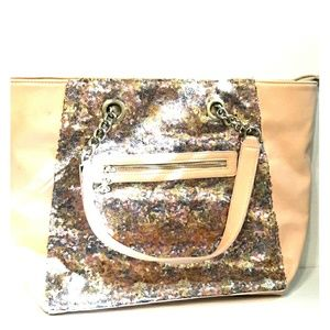 Gorgeous BETSEY JOHNSON Large Shimmer Pink Tote